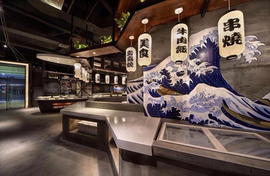 日式自助餐厅高清装饰图