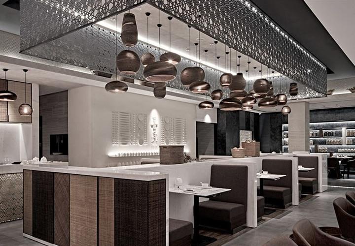 茶餐厅装潢设计效果图
